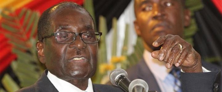 Zimbabve Devlet Başkanı aynı metni okudu ve fark etmedi