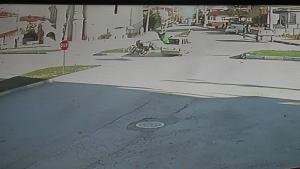 Erbaa'da kaza anı kamerada